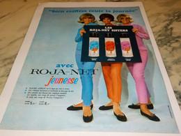 ANCIENNE PUBLICITE CHEVEUX ROJA NET SISTERS 1965 - Autres