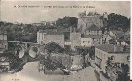 Carte Postale Ancienne De Clisson Le Pont Saint Antoine Sur La Maine Et Le Chateau - Clisson