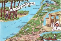 LANDES - 40 - CPSM GF Couleur - La Côte Landaise - France