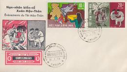 Enveloppe  FDC   1er  Jour   VIETNAM   Evénements  Du  Têt   Mâu - Thân   1970 - Viêt-Nam