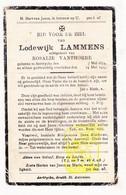 DP Lodewijk Lammens ° Aartrijke Zedelgem 1854 † 1923 X Rosalie VanThorre - Images Religieuses