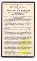 DP Leontina Lammens ° Aatrijke Zedelgem 1881 † 1935 X M. Cattrysse Xx A. Declerck - Images Religieuses