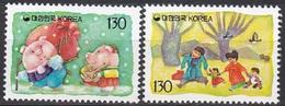 South Korea KPCN67-8 New Year's Greeting, Boar, Bonne Année - Corée Du Sud