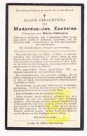 DP Medardus J. Eeckeloo ° Aartrijke Zedelgem 1882 † Bekegem Ichtegem 1936 X M. DeFevere - Images Religieuses