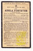 DP Adela Fonteyne / VandenBussche ° Aartrijke Zedelgem 1875 † 1922 - Images Religieuses