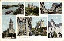 Cp Limburg An Der Lahn In Hessen, Schloss Schaumburg, Lahnpartie, Bischofsplatz, Dom, Querschiff - Allemagne
