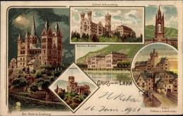 Clair De Lune Lithographie Limburg An Der Lahn Hessen, Dom, Schlösser, Lahnbrücke, Kursaal - Allemagne