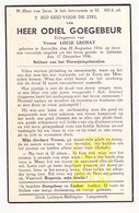 DP Oorlogsslachtoffer WO II 40-45 Militair Ontmijner Odiel Goegebeur ° Aartrijke Zedelgem 1916 † Jabbeke 1946 X L LeChat - Images Religieuses