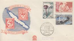 Enveloppe  FDC  1er Jour   NOUVELLE CALEDONIE   Centenaire  De  La  Poste  Et  Du   Timbre  Néo  Calédonien  1960 - FDC