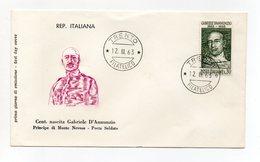Italia - 1963 - Centenario Della Nascita Di Gabriele D'Annunzio - Con Doppio Annullo Filatelico - (FDC14303) - 6. 1946-.. Repubblica
