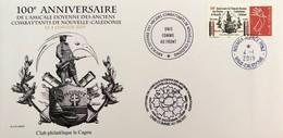 NOUVELLE CALEDONIE (New Caledonia)- Enveloppe événementielle Avec Timbre Personnalisé - 2019 - Anciens Combattants - Nouvelle-Calédonie