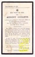 DP August Gielens ° Bekegem Ichtegem 1844 † 1935 - Images Religieuses
