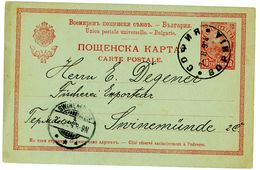P 26 Auslands Postkarte 1904 Nach Swinemünde - Ganzsachen