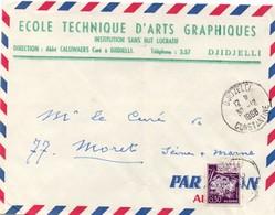 Djidjelli 1966 Constantine - Lettre Brief Cover - Algérie (1962-...)