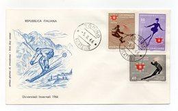 Italia - 1966 - Universiadi Invernali - Con Doppio Annullo Filatelico - (FDC14304) - 6. 1946-.. Repubblica