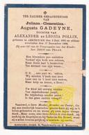 DP Kind - Juliana Clementina A. Gadeyne / Pollin 9j. ° Aartrijke Zedelgem 1897 † 1906 - Images Religieuses