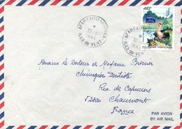Afareaitu Moorea 1993 - Lettre Brief Cover - French Polynesia
