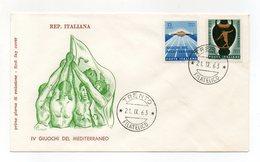 Italia - 1963 - IV^ Giochi Del Mediterraneo - Con Doppio Annullo Filatelico - (FDC14305) - 6. 1946-.. Repubblica