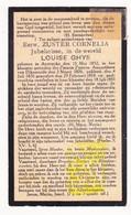 DP EZ Louise Ghys - Zr. Cornelia ° Aartrijke Zedelgem 1852 † Klooster Zw. Zrs. Diksmuide 1933 - Images Religieuses