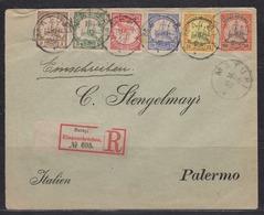 Deutsch-Neuguinea R-Brief Matupi 19.4.03 MiF 7,8,9,10,11,12 Nach Palermo Italien - Kolonie: Deutsch-Neuguinea