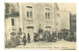 34 BEZIERS INSTITUTION DE JEUNES FILLES TERRASSE ANIMATION HERAULT - Beziers