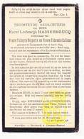 DP Gemeentesecretaris & Schoolmeester Karel Hassebroucq ° Langemark 1859 † Aartrijke Zedelgem 1933 X Delporte Xx Callens - Images Religieuses