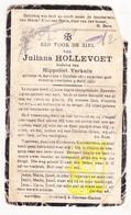 DP Juliana Hollevoet ° Aartrijke Zedelgem 1872 † 1935 X Hippoliet Verkain - Images Religieuses
