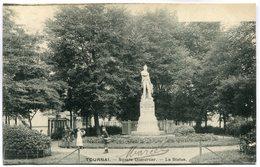 CPA - Carte Postale - Belgique - Tournai - Square Dumortier - La Statue (M7455) - Doornik