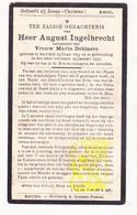 DP August Ingelbrecht ° Aartrijke Zedelgem 1859 † 1933 X Maria DeBlaere - Imágenes Religiosas