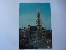"""Cartolina  Viaggiata """"BRUXELLES Grand Place. Hotel De La Ville"""" 1968 - Monumenti, Edifici"""