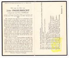 DP Jules Ingelbrecht ° Bekegem Ichtegem 1887 † 1946 X Elisa Capelle / Van Steelandt Vyvey Neutens Cordy Pynenbrouck Dely - Images Religieuses
