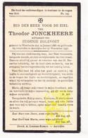 DP Theodor Jonckheere ° Westkerke Oudenburg 1861 † Aartrijke Zedelgem 1937 X Eugenie Holevoet - Images Religieuses