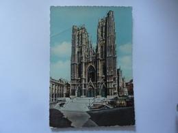 """Cartolina  Viaggiata """"BRUXELLES Collegiale St. Gudule"""" 1958 - Monumenti, Edifici"""