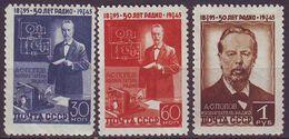 ROSSIA - RUSSIA - Mi. 965-67   POPOW -  RADIO - **MNH - 1945 - Nuovi