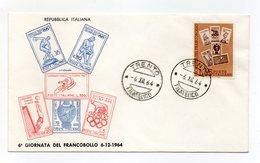 Italia - 1964 - 6^ Giornata Del Francobollo - Con Doppio Annullo Filatelico - (FDC14306) - 6. 1946-.. Repubblica
