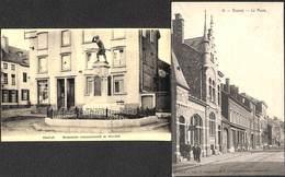 Ensival - Lot 2 Cartes (Monument Avec Tabac Et Poste Animée) - Verviers