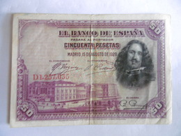 ESPAGNE-BILLET DE 50 PESETAS-1928 - 50 Pesetas
