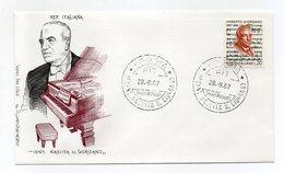 Italia - 1967 - Centenario Della Nascita Di Umberto Giordano - Con Doppio Annullo Filatelico - (FDC14308) - 6. 1946-.. Repubblica