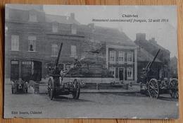Châtelet - Monument Commémoratif Français, 22 Août 1914 - Guerre / Militaria - Bords Usagés - (n°14476) - Châtelet