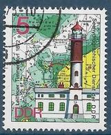 DDR - ALLEMAGNE Phare (1974) Oblitéré - Fari