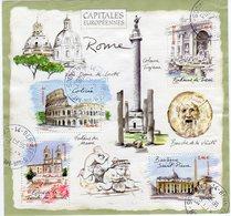 2002 BF 53  No YT 3527/3530 CAPITALE EUROPEENNE ROME Oblitération Ronde - Blocchi & Foglietti