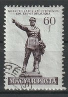 MiNr. 1266  Ungarn 1952, 19. Sept. 150. Geburtstag Von Lajos Kossuth, Enthüllung Des Kossuth-Denkmals. - Ungarn