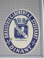 Oud Bier Etiket SPÉCIALE Brouwerij Brasserie LAURENT & STEENART Dinant - Beer
