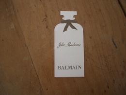 Carte Balmain Jolie Madame - Perfume Cards