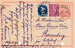 Karte Aus Pappenheim 1922 - Allemagne
