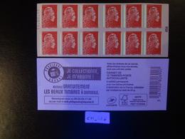 2019  CARNET MARIANNE L'ENGAGÉE LETTRE PRIORITAIRE ROUGE DATE 15.02.198 EN POSITION HAUTE  JE COLLECTIONNE JE M'ABONNE - Carnets