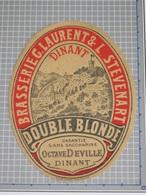Oud Bier Etiket DOUBLE BLONDE Brouwerij Brasserie LAURENT & STEVENART Dinant - Beer