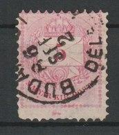 MiNr. 17 Ungarn 1874, 1. Okt. /1876. Freimarken: Brief Mit Wertziffern; Ziffern Farbig. - Ungarn