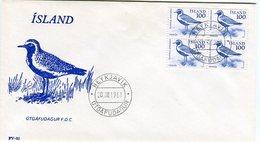 Iceland/Islande/Ijsland/Island FDC 20.VIII.1981 Birds Block Of 4 Matching Cover FV-82 - FDC