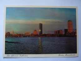 "Cartolina  Viaggiata ""Late Afternoon Reflections BOSTON""  1987 - Boston"